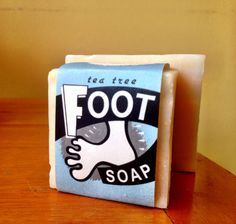 Kick Off Your Shoes! Walk on over to FOOT HEAVEN…  Pamper feet with nature's allies in the fight against foot odour and rough heels. Tea Tree Foot Soap has Pumice and Corn Meal for a serious scrub, and tropical oils of Palm and Coconut for a moisturizing but gentle lather. Oils of Mint, Clove and Tea Tree naturally deodorize.