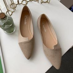 Flat Shoes Women Sweet Flats Shallow Women Boat Shoes Slip On Ladies Loafers Spring Women Flats Pink Color Khaki Shoe Size 40 Comfy Shoes, Casual Shoes, Loafers For Women, Shoes Women, Ladies Loafers, Women Sandals, Ladies Shoes, Shoes Sandals, Pointed Toe Loafers