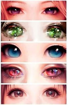 Anime eyes 2 by SnowGirl Pinterest