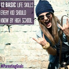 Mastering these 12 basic life skills by high school might be harder than it looks for some kids. That's why it's up to the parents to set their kids up for skill-success! Parenting Goals, Parenting Teens, Parenting Hacks, Teaching Life Skills, Parents, Raising Girls, Teen Life, Social Skills, Child Development