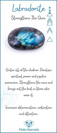 Pin To Save, Tap To Shop The Gem. What is the meaning and crystal and chakra healing properties of labradorite? A stone for strengthening the aura. Mala Kamala Mala Beads - Malas, Mala Beads, Mala Bra