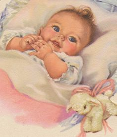 vintage baby paintings - Google Search