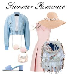 A fashion look from July 2017 featuring pink dress, denim jacket and red shoes. Browse and shop related looks. Summer Romance, Alexis Bittar, Red Shoes, Pink Dress, Balmain, Fashion Looks, Denim, Polyvore, Jackets