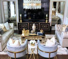 Home Interior Salas .Home Interior Salas Elegant Home Decor, Cheap Home Decor, Gold Home Decor, Glam Living Room, Living Room Decor, Bedroom Decor, Living Room Inspiration, Home Decor Inspiration, Decor Ideas