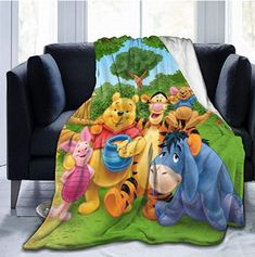 Net Method Winnie The Pooh Flannel Blanket Super Soft and Comfortable Fuzzy Luxury Warm Plush Microfiber Blanket Suitable for Bed Sofa Travel Four Seasons Blanket Organic Baby Clothes, Unisex Baby Clothes, Winnie The Pooh Blanket, Microfiber Blanket, Newborn Tieback, Flannel Blanket, Boho Baby, Newborn Gifts, Diy Toys