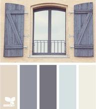 Window Tones: Tan, Elephant Grey, Charcoal Gray, Sky Blue, Creamy White
