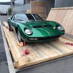 Lamborghini Miura SV. The first Lamborghini restored by The new department of restorations of the company