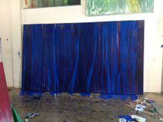 Laurel Holloman's painting for July 2014 Paris show Paris Shows, Sky, Rose, Artist, Artwork, Photography, Painting, Kunst, Heaven