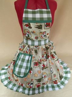 Retro Vintage 50s Style Full Apron / Pinny  by FabriqueCreations, £22.50