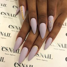 Pale matte lavender with gold accents