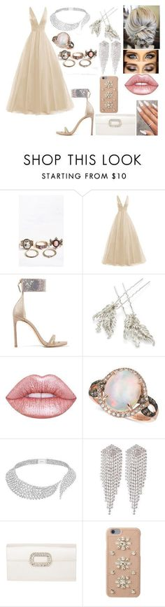 """""""Marcie 4"""" by kora-muffin on Polyvore featuring Stuart Weitzman, RTR Bridal Accessories, Lime Crime, LE VIAN, Messika, sweet deluxe, Roger Vivier and MICHAEL Michael Kors #rogervivierbridal"""