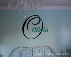Custom name monogram vinyl lettering decal by OZAVinylGraphics on Etsy