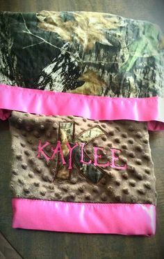 Baby Girl Hunter Blanket in Mossy Oak Camo and by LeftHandedLady, $49.00
