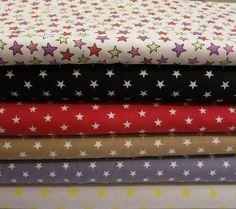 Stoff Sterne 1cm grau,rot,schwarz,beige,bunt von ஐღKreawusel-aufgehübscht✂ஐ  auf DaWanda.com