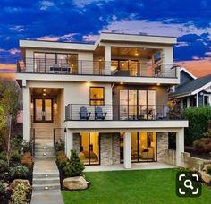 Docena hill climber house on behance – Artofit House Plans Mansion, Dream House Plans, Bungalow House Design, House Front Design, Modern Backyard Design, Modern House Design, Dream Home Design, Home Design Plans, Home Building Design