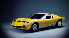 "Lamborghini Miura  ""Miura 1966"" with its central v12 engine and fascinating body and design by Marcello Gandini. 0-100 kph in 6.7 second with a maximum speed of 280kph miura set a new standard in sport car industry. Muira was produces between 1966-1969"
