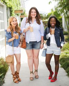 For more informations check http://ift.tt/1RMX9GR on theeverygirl.com @hannahhagler @lovelyinla @candicenikeia show us 3 effortless ways to style @gapfactory shorts this spring (link in profile) || photography by @michellekimphoto by theeverygirl_