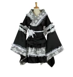 61.52$  Buy here - maid cosplay costume for women Anime clothes lace kimono Lolita dress girls summer party dress medieval gothic dresses   #magazineonline