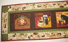 Coffee Table Runner or Wall Art quilted with by PicketFenceFabric, $35.95