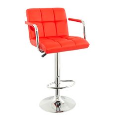 Corin Height Adjustable High Back Bar Chair Red faux leather. £82.95 from Furnintureinfashion.net