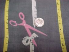 """Vintage Antique Cotton Quilt Doll Fabric Print 30s Novelty Sewing Scissors 36""""wd"""