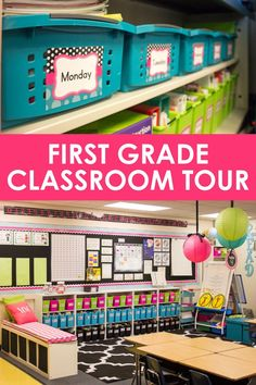 First Grade Classroom and Library Makeover: Come Take a Tour!