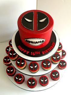 DeadPool cake & cupcakes