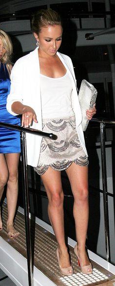sequin skirt hayden panettiere