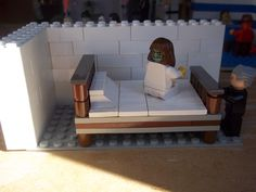 lego excorcist Halloweens scene Lego Halloween, Halloween Scene, Lego Display, Awesome Lego, Lego Storage, Toddler Bed, Furniture, Home Decor, Child Bed