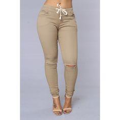 Cadet Pants Khaki (355 CZK) ❤ liked on Polyvore featuring pants, bottoms, khaki pants and khaki trousers