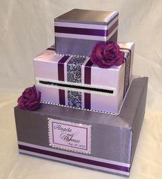 unique wedding card holder   Elegant Custom Made Wedding Card Box-any color combination-rhinestone ...