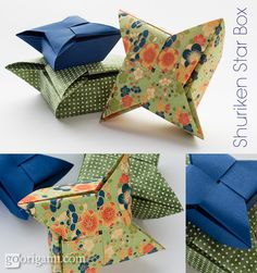 star origami box