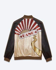 Saint Laurent Paris Authentic New Black Gold Bang Leather Teddy Jacket Sz 48 M | eBay