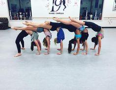 "maddiedancing: "" Chloe Lukasiak: Team work makes the dream work "" Dance Picture Poses, Dance Poses, Dance Pictures, Acro Yoga Poses, Acro Dance, Partner Yoga, Cheerleading, Acrobatic Gymnastics, Gymnastics Workout"