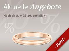 Wunderschöne Ringe gibt es noch bis zum 31.Oktober besonders günstig. Gleich in unsere neuen Angebote reinschauen! https://www.wunderring.de/damenringe-angebote.html #Roségold #Schmuck #Eheringe