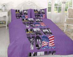 New York City Duvet Quilt Cover Bedding Set Bedding Sets Uk, Damask Bedding, Purple Bedding, Queen Bedding Sets, Luxury Bedding Sets, Grey Bedding, Turquoise Bedding, Plaid Bedding, Vintage Bedding