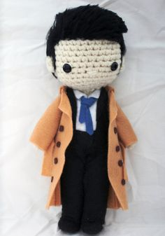 Supernatural Castiel Crochet Plush by sailonastar on Etsy #supernatural