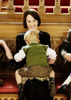 """Delete that,"" she half-joked. Lady Mary and Master George. Downton Abbey."