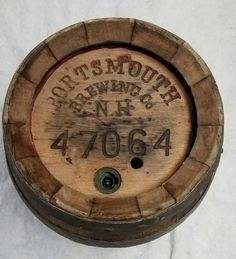 Antique Late 1800's To 1919 Pre Prohibition Portsmouth Brewing Oak Beer Ale Keg