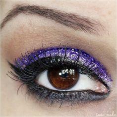 Maquiagem Roxa - Glitter 16 Roxo Dailus Color  - tudo make 01