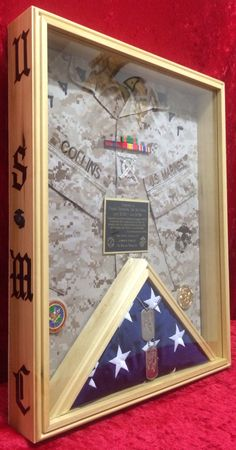 USMC shadow box Questions on design or price contact Lunawood1775@gmail.com