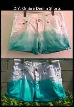 Diy ombre denim shorts!!!! Gonna do this asap!
