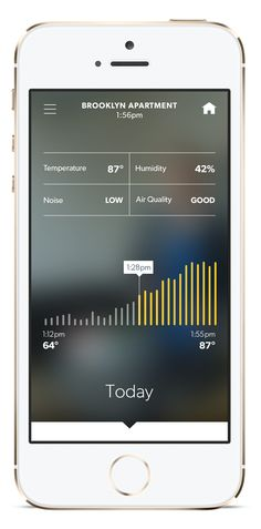 Canary.is Mobile temperature screenshot