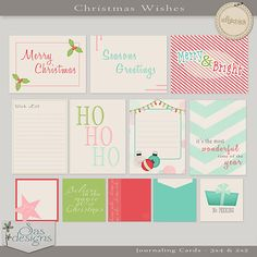 Christmas Wishes - Journaling Cards