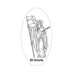 St Ursula 3d illusion lamp vector file for CNC - 3bee-studio