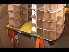 como hacer muebles de carton/ comme faire un meuble en carton