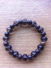 Smoky Quartz and Tiger Iron Bracelet for a Wrist by Crystalcures4u, $33.00