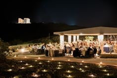 Wedding reception with a view | Classy wedding in Athens, Sounio, Greece