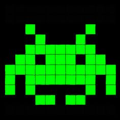 Space Invaders Enemy type 1 by ~Maleiva on deviantART Vintage Video Games, Retro Video Games, Space Invaders, Pixel Art Website, Arcade, Children Of The Revolution, Goth Home, Minecraft Blueprints, Pixel Pattern
