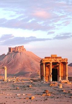 """Site of Palmyra, Syria - What an experience! From Damascus, driving down to Palmyra and seeing some amazing sights was exhilarating! The hypogeums (""""Valley of the Tombs""""), going to one of the oldest churches where Aramaic is still spoken, the colonnades and the arches, it's all worth a visit if you ever get a safe chance!"""
